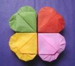 Оригами сердце - схема (обучающее видео)