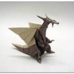 Оригами динозавр (онлайн видео)