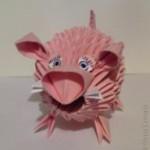 Оригами свинья (обучающие видео)