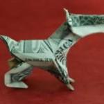 Оригами собака (обучающее видео)