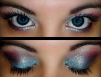 Макияж с голубыми тенями