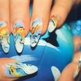 Несложные рисунки на ногтях