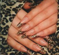 Леопардовый дизайн ногтей (видео обучение)