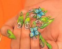 Рисунки на ногтях - бабочки