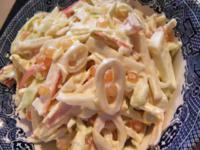 Салат из консервированных кальмаров (обучающий урок)