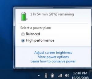 Батарея Windows 7