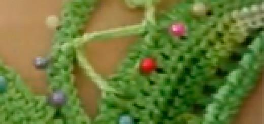 Вязание крючком – нерегулярная сетка с витыми узелками