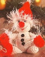 Вязание снеговика крючком