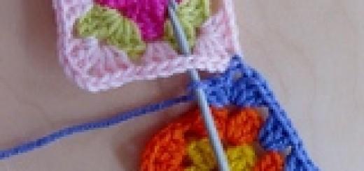 Соединение мотивов при вязании крючком