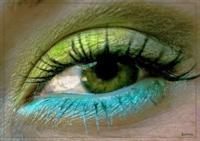 Макияж зеленых теней