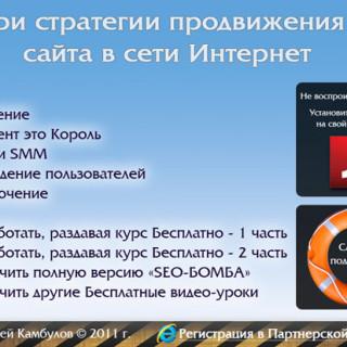Три стратегии продвижения сайта в сети Интернет