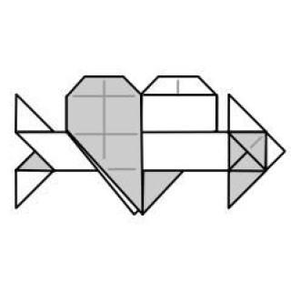 "Оригами ""Сердце и стрелка"""