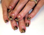 дизайн ногтей с золотом