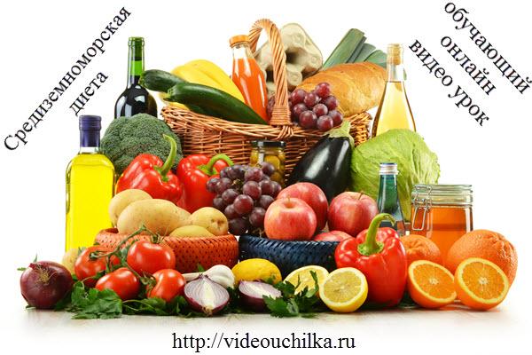 Средиземноморская диета похудения меню