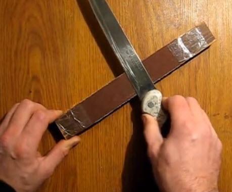 Поточить нож в домашних условиях