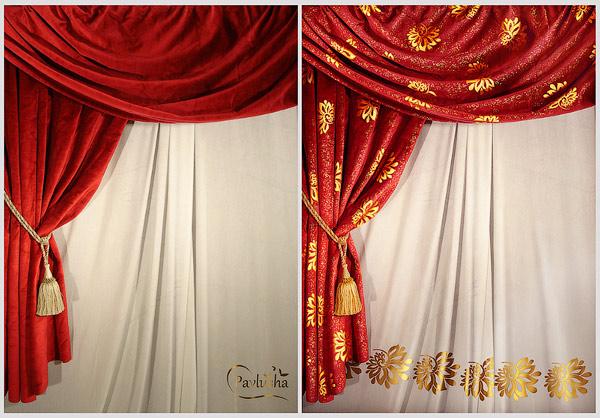 Декорирование ткани золотым узором