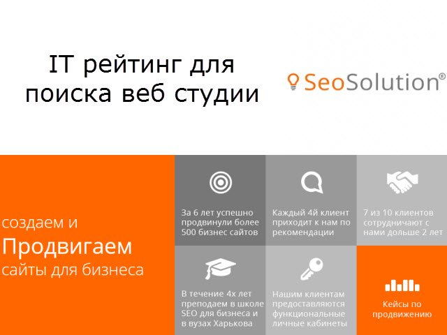 Рейтинг для поиска веб студии Украины