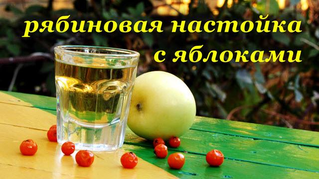 Рецепт настойки из рябины с ароматными яблоками
