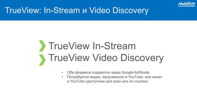 TrueView: In-Stream и Video Discovery