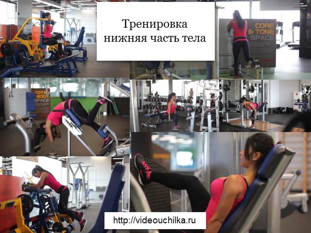 Тренировка нижняя часть тела
