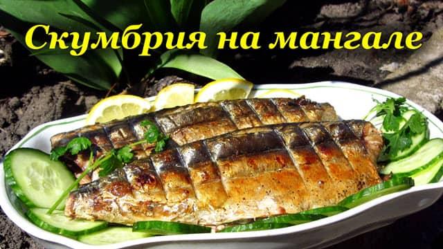 Рецепт скумбрии на мангале