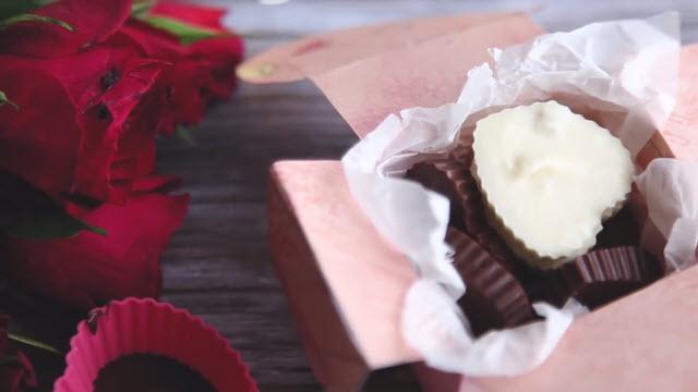 Полученные конфеты в виде сердца