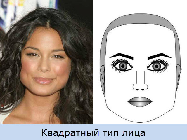 Квадратный тип лица