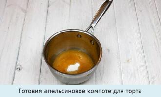 готовим апельсиновое компоте для торта