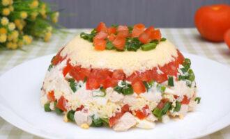 Салат Минутка с помидорами