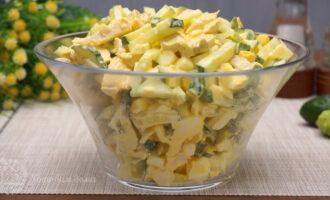 Салат вкусняшка из огурцов