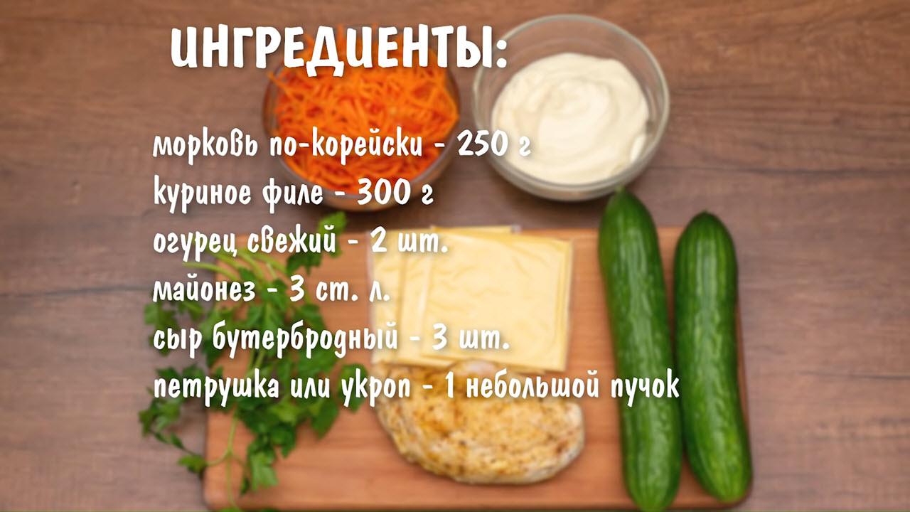 Весенний салат на 8 Марта - ингредиенты