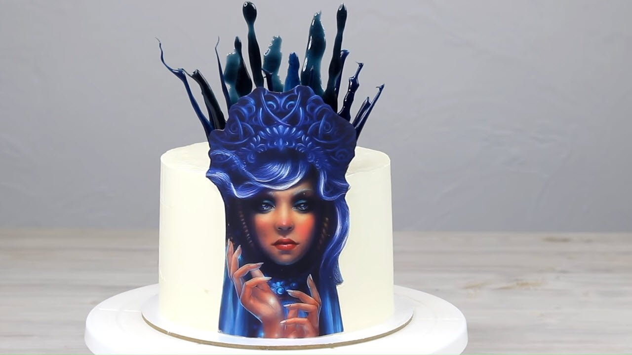 Украшаем торт картинкой и изомальтом